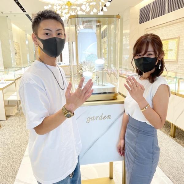 岐阜県 ハンドメイド指輪を作成頂きました