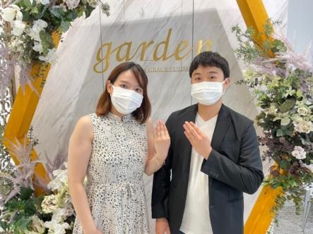 京都伏見区、城陽市 フィッシャーの結婚指輪をご成約いただきました