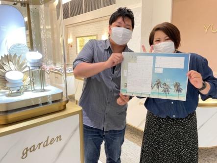 大阪府茨木市(北摂)プライベートビーチの結婚指輪をご成約いただきました