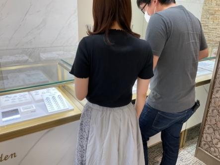 京都市西京区・下京区 鍛造製法の強度にこだわったフィッシャーの結婚指輪をご成約いただきました