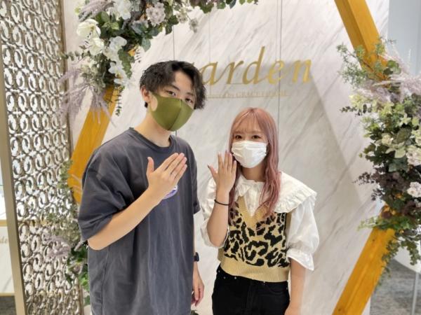 大阪府寝屋川市・枚方市 手作りペアリング(指輪)を作成頂きました
