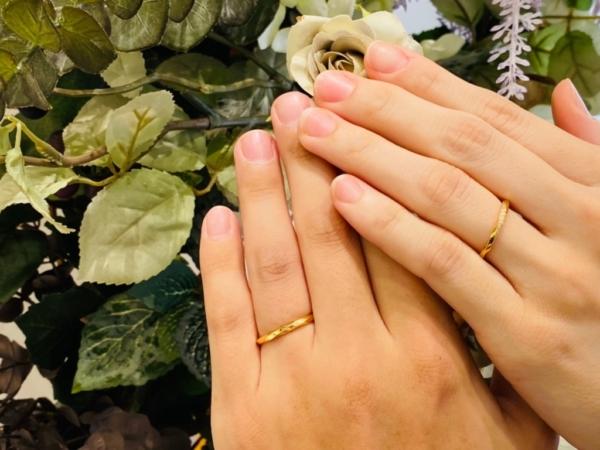 大阪府東淀川区・京都市相楽郡 アンティークな結婚指輪ブランドユカホウジョウの結婚指輪をご成約いただきました