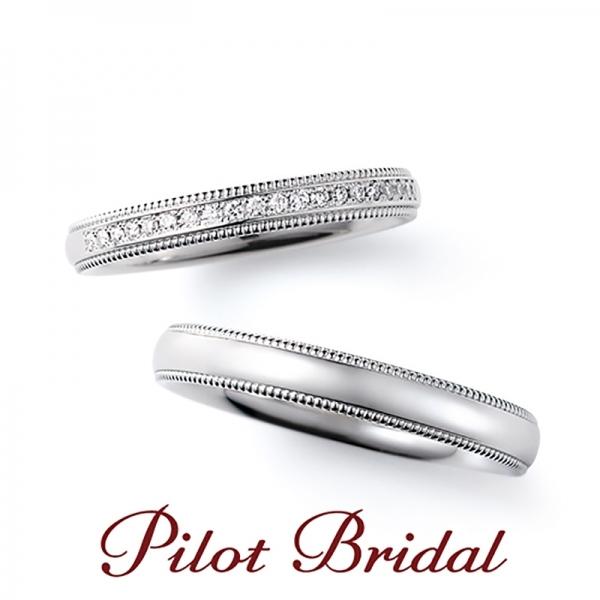 三重で人気のPilot Bridal結婚指輪 Happiness
