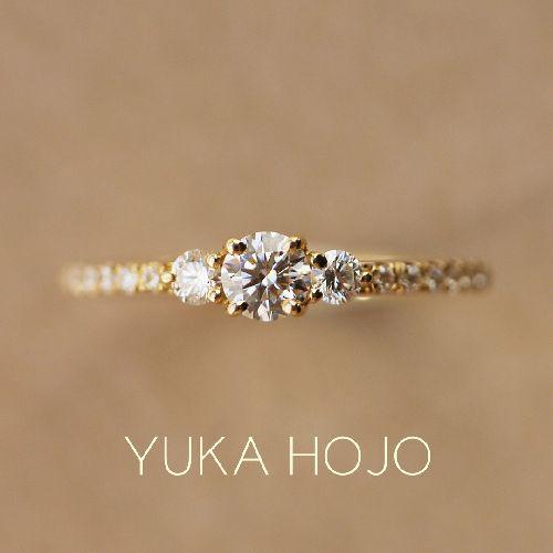 三重婚約指輪YUKAHOJO コメット
