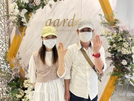京都宇治市 スイートブルーダイヤモンドの結婚指輪をご成約頂きました