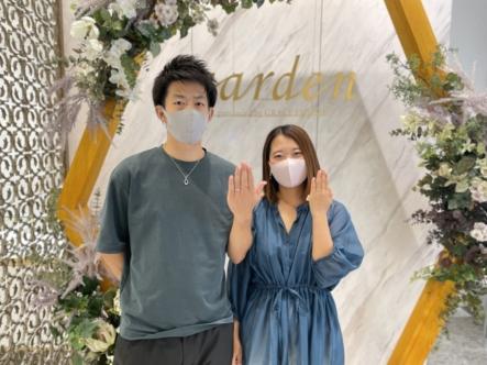 京都市右京区 フィッシャーの結婚指輪をご成約いただきました