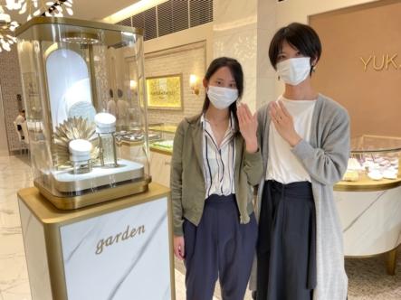 京都市西京区・京丹後市 フィッシャーの結婚指輪をご成約頂きました